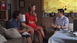 Leo Tanaka, Amy Williams, David Tanaka in Neighbours Episode 7751