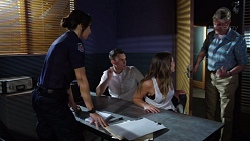 Mishti Sharma, Jack Callaghan, Paige Novak, Det. Bill Graves in Neighbours Episode 7751