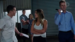 Jack Callaghan, Tyler Brennan, Piper Willis, Paige Novak, Mark Brennan in Neighbours Episode 7751