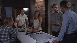Piper Willis, Jack Callaghan, Paige Novak, Tyler Brennan, Mark Brennan in Neighbours Episode 7752