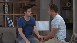 David Tanaka, Aaron Brennan in Neighbours Episode 7752