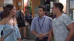 Elly Conway, David Tanaka, Aaron Brennan in Neighbours Episode 7752