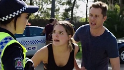 Mishti Sharma, Paige Novak, Mark Brennan in Neighbours Episode 7753