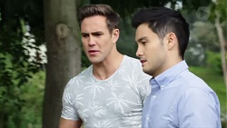 Aaron Brennan, David Tanaka in Neighbours Episode 7753