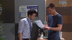 David Tanaka, Mark Brennan in Neighbours Episode 7753