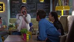 Kirsha Rebecchi, Shane Rebecchi, Yashvi Rebecchi in Neighbours Episode 7755