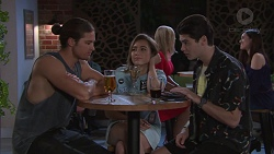 Tyler Brennan, Piper Willis, Ben Kirk in Neighbours Episode 7756