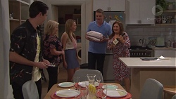 Ben Kirk, Sheila Canning, Xanthe Canning, Gary Canning, Terese Willis in Neighbours Episode 7756