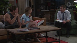 Tyler Brennan, Piper Willis, Toadie Rebecchi in Neighbours Episode 7756