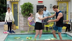 Susan Kennedy, Piper Willis, Tyler Brennan in Neighbours Episode 7756