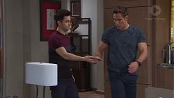 David Tanaka, Aaron Brennan in Neighbours Episode 7757