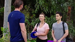 Rory Zemiro, Amy Williams, David Tanaka in Neighbours Episode 7758