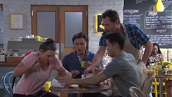 Amy Williams, Leo Tanaka, Shane Rebecchi, David Tanaka in Neighbours Episode 7758