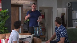 David Tanaka, Rory Zemiro, Aaron Brennan in Neighbours Episode 7758