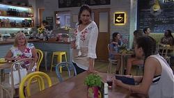 Sheila Canning, Dipi Rebecchi, Yashvi Rebecchi in Neighbours Episode 7759