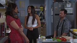 Dipi Rebecchi, Mishti Sharma, Shane Rebecchi in Neighbours Episode 7760