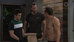 David Tanaka, Rory Zemiro, Aaron Brennan in Neighbours Episode 7761