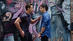 Aaron Brennan, David Tanaka in Neighbours Episode 7761