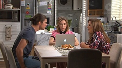 Tyler Brennan, Piper Willis, Terese Willis in Neighbours Episode 7761