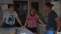 Ben Kirk, Piper Willis, Tyler Brennan in Neighbours Episode 7762