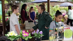 Jimmy Williams, Sonya Mitchell, Kirsha Rebecchi in Neighbours Episode 7763