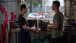 Ben Kirk, Mark Brennan in Neighbours Episode 7763