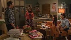 Shane Rebecchi, Dipi Rebecchi, Mishti Sharma, Leo Tanaka in Neighbours Episode 7764