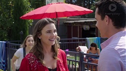 Piper Willis, Amy Williams, Elly Conway, Jack Callaghan in Neighbours Episode 7765