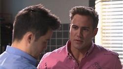 David Tanaka, Aaron Brennan in Neighbours Episode 7767