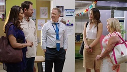 Dipi Rebecchi, Shane Rebecchi, Clive Gibbons, Elly Conway, Sheila Canning in Neighbours Episode 7767