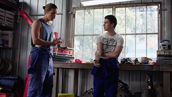 Tyler Brennan, Ben Kirk in Neighbours Episode 7768