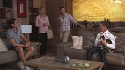 Leo Tanaka, Hilary Robinson, Amy Williams, Paul Robinson, Clementine in Neighbours Episode 7768