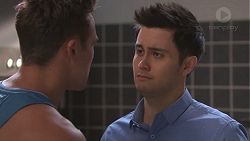Aaron Brennan, David Tanaka in Neighbours Episode 7768