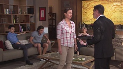 David Tanaka, Leo Tanaka, Amy Williams, Hilary Robinson, Paul Robinson in Neighbours Episode 7768
