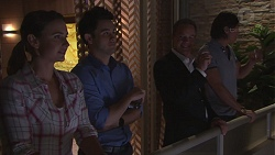 Amy Williams, David Tanaka, Paul Robinson, Leo Tanaka in Neighbours Episode 7768
