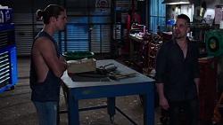 Tyler Brennan, Adrian Snyder in Neighbours Episode 7768