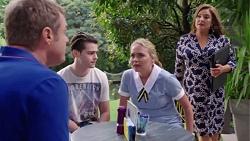Gary Canning, Ben Kirk, Xanthe Canning, Terese Willis in Neighbours Episode 7770