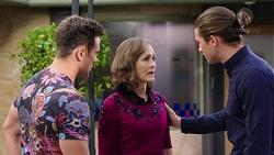 Aaron Brennan, Fay Brennan, Tyler Brennan in Neighbours Episode 7770