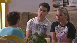 Jimmy Williams, Ben Kirk, Xanthe Canning in Neighbours Episode 7770