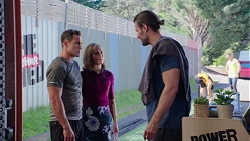 Aaron Brennan, Fay Brennan, Rory Zemiro in Neighbours Episode 7771
