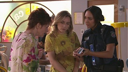 Susan Kennedy, Piper Willis, Mishti Sharma in Neighbours Episode 7771