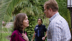 Fay Brennan, Mishti Sharma, Bill Warley in Neighbours Episode 7771