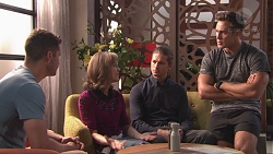 Mark Brennan, Fay Brennan, Tyler Brennan, Aaron Brennan in Neighbours Episode 7771