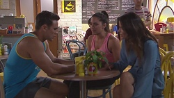Aaron Brennan, Paige Novak, Elly Conway in Neighbours Episode 7772