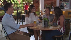 Jack Callaghan, Elly Conway, Mark Brennan, Paige Novak in Neighbours Episode 7775