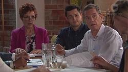 Susan Kennedy, David Tanaka, Paul Robinson in Neighbours Episode 7776
