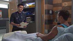 David Tanaka, Aaron Brennan in Neighbours Episode 7776