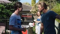 Ben Kirk, Piper Willis, Tyler Brennan in Neighbours Episode 7776