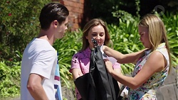 Ben Kirk, Piper Willis, Xanthe Canning in Neighbours Episode 7777