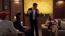 David Tanaka, Leo Tanaka, Paul Robinson, Amy Williams in Neighbours Episode 7777
